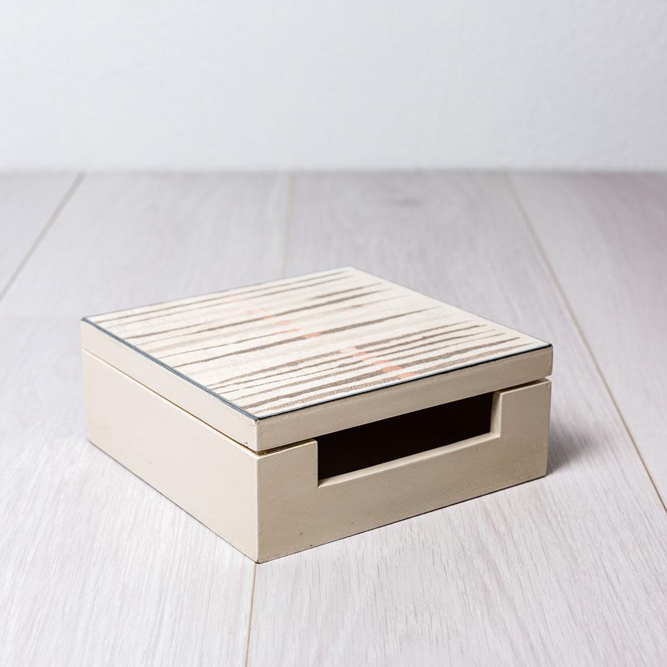 caja servilletas con tapa