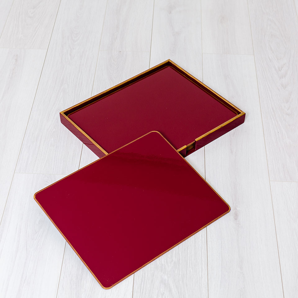 juego de 6 individuales rectangulares